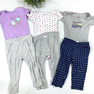 18 Month Short Sleeve Onesie & Pant Matching Sets